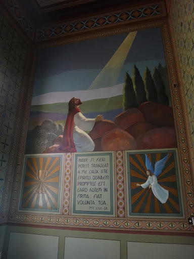 Vista da parede direita - A agonia de Cristo no Orto das Oliveiras.