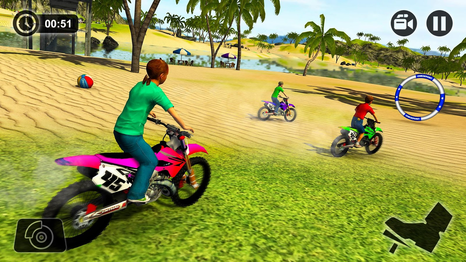 Kids Water Surfer Motorbike Racing - Beach Driving - Android Apps ...