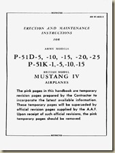 Erection and Maint. Instructions - P-51D,K Mustang IV [AN01-60JE-2] (Restricted) WW_01