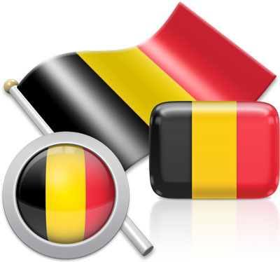 Belgian flag icons pictures collection