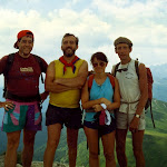 1977 approx, Dolomites, Gordon Browning Geoff Scott Sue Browning Graham Hemsley.jpg