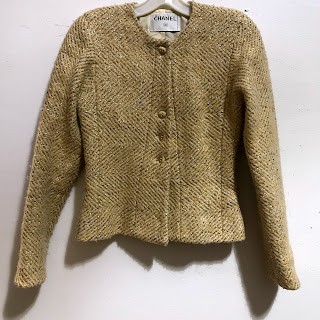 Chanel Wool and Lamé Jacket