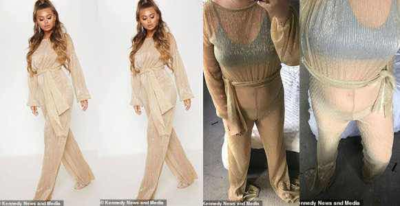 See the £35 jumpsuit lady ordered and see what she received (Photos) #Abiodunsblog, ENTERTAINMENT