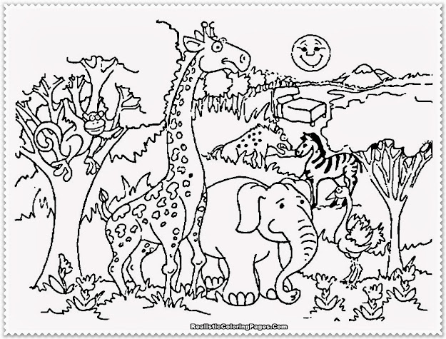 Zoo Animal Coloring Pages Realistic Coloring Pages
