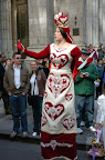 Queen of Hearts on Stilts