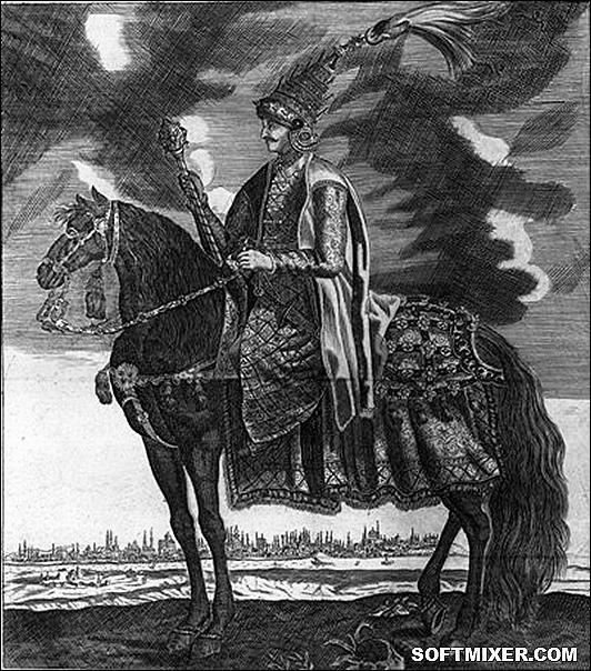mehmed_iv_ryt_j_koppmayer_w_j_c_wagnera_delineatio_provinciarum_pannoniae_et_imperii_turcici_in_oriente_1685_bn