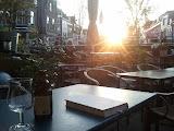 Toyota kata & een Maredsous bij ondergaande zon in De Ruif, Delft.
