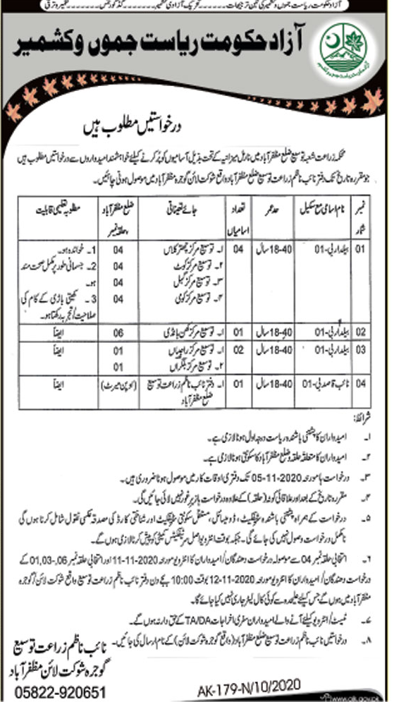 Agriculture Department Jobs October 2020