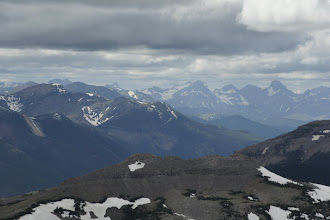 Photo: The Flathead range.  Mt. Darrah is visible on the far right.