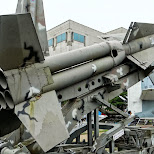 giant rocket at the War Memorial of Korea in Seoul in Seoul, Seoul Special City, South Korea