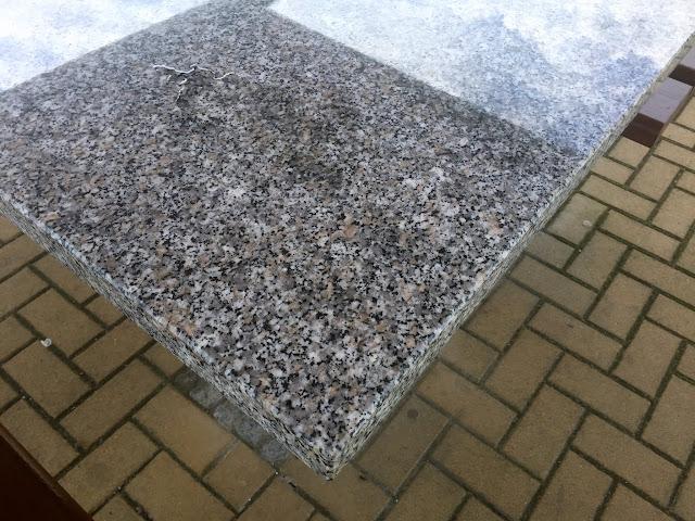 Massive tischplatte granit naturstein f gartentisch for Terrassentisch granit