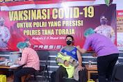 Polres Tana Toraja Gelar Vaksinasi Covid -19 Tahap I, Antusias Personil Tinggi