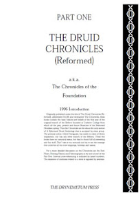 Cover of Reformed Druids's Book Anthology 01 Chronicles of the Foundation