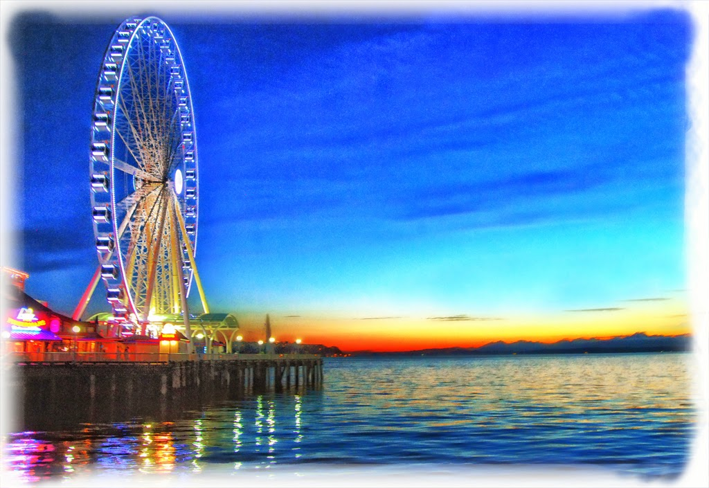"""Sunset Wheel"" by Celene Wendt -- 1st Place B General"