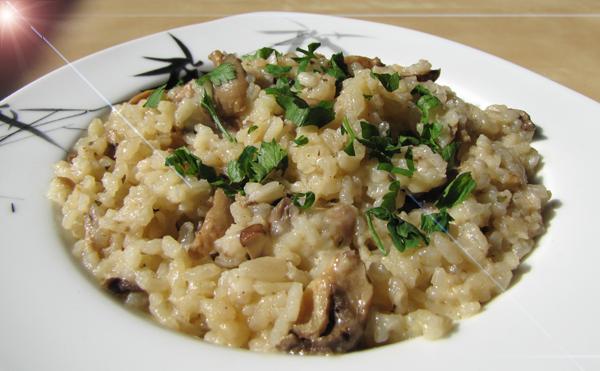 mampf dich gesund champignon risotto. Black Bedroom Furniture Sets. Home Design Ideas