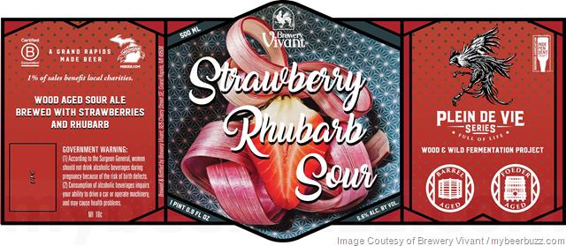 Brewery Vivant Strawberry Rhubarb Sour Coming To Plein De Vie Series