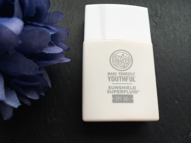 soap and glory make yourself youthful sunshield superfluid SPF50 review