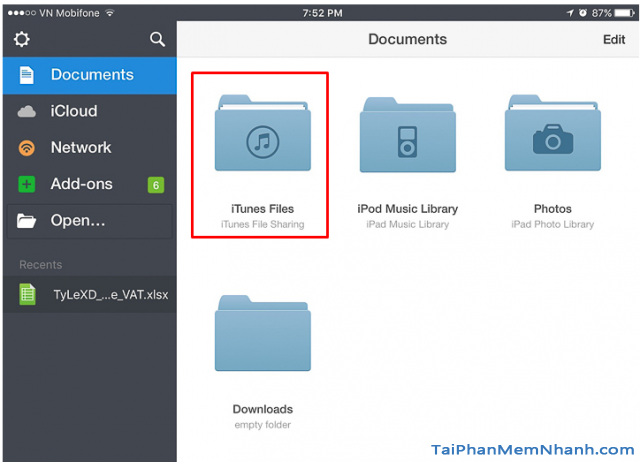 quản lý file trên iPhone