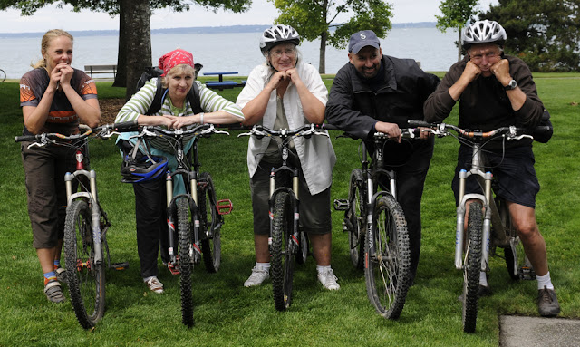 Bikers pose after a hard day of bikingCredit: Bellingham Whatcom County Tourism