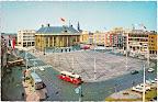 Groningen. Stadhuis met rechts Amsterdamsche Bank.  Ongelopen.