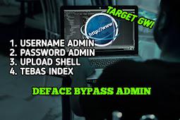 Cara Deface Bypass Admin 2021
