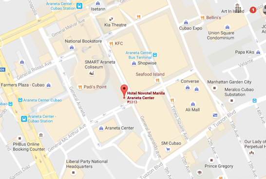 novotel map