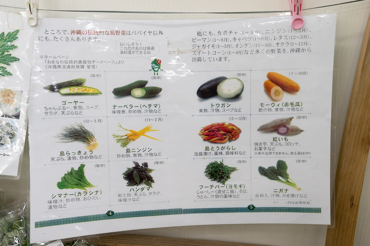 沖縄の伝統的な島野菜