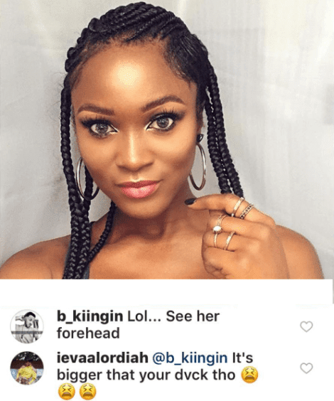 Nigerian Rapper, Eva Alordiah Replies A Fan Who Said Her Forehead Is Big