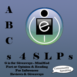 ABCs 4 SLPs: G is for Giveaways - MiniMod Fact or Opinion and Reading For Inferences Reviews and Giveaways image