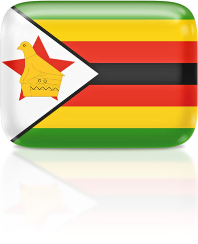 Zimbabwean flag clipart rectangular