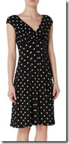Lauren Ralph Lauren polka dot jersey fit and flare dress