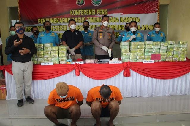 Januari Hingga September, Polda Lampung Ungkap Ratusan Kilogram Narkotika