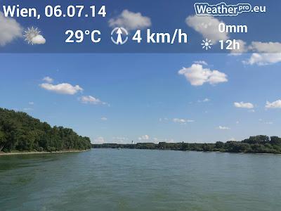 Traumwetter am Ende der Donauinsel. #Wetter #Wien