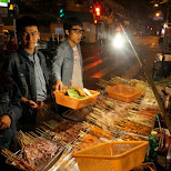 street food in Shanghai on Sichuan Middle Rd. in Shanghai, Shanghai, China