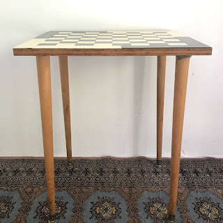 Joseph Hanley 1961 Signed Chess Table