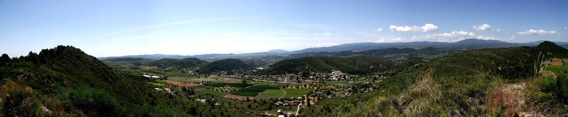 Panorámica montañas valencianas