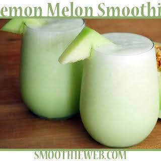 Lemon & Honeydew Melon Smoothie with Mint.