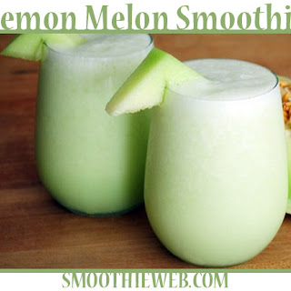 Lemon & Honeydew Melon Smoothie with Mint.