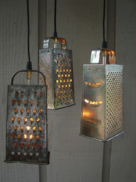 Cheese Grater Pendant Lamps