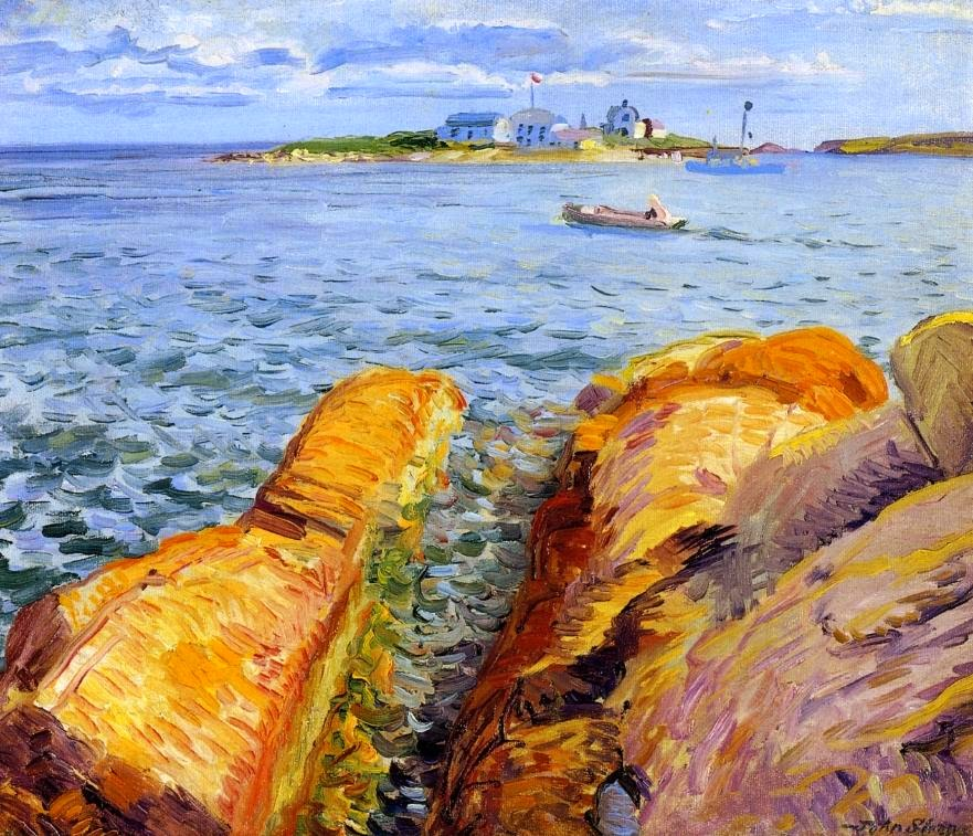 John Sloan - Wonson's Rocks and Ten Pound Island