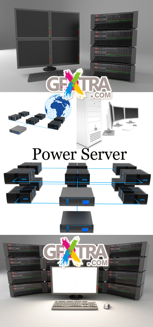 Stock Photo: Power Server