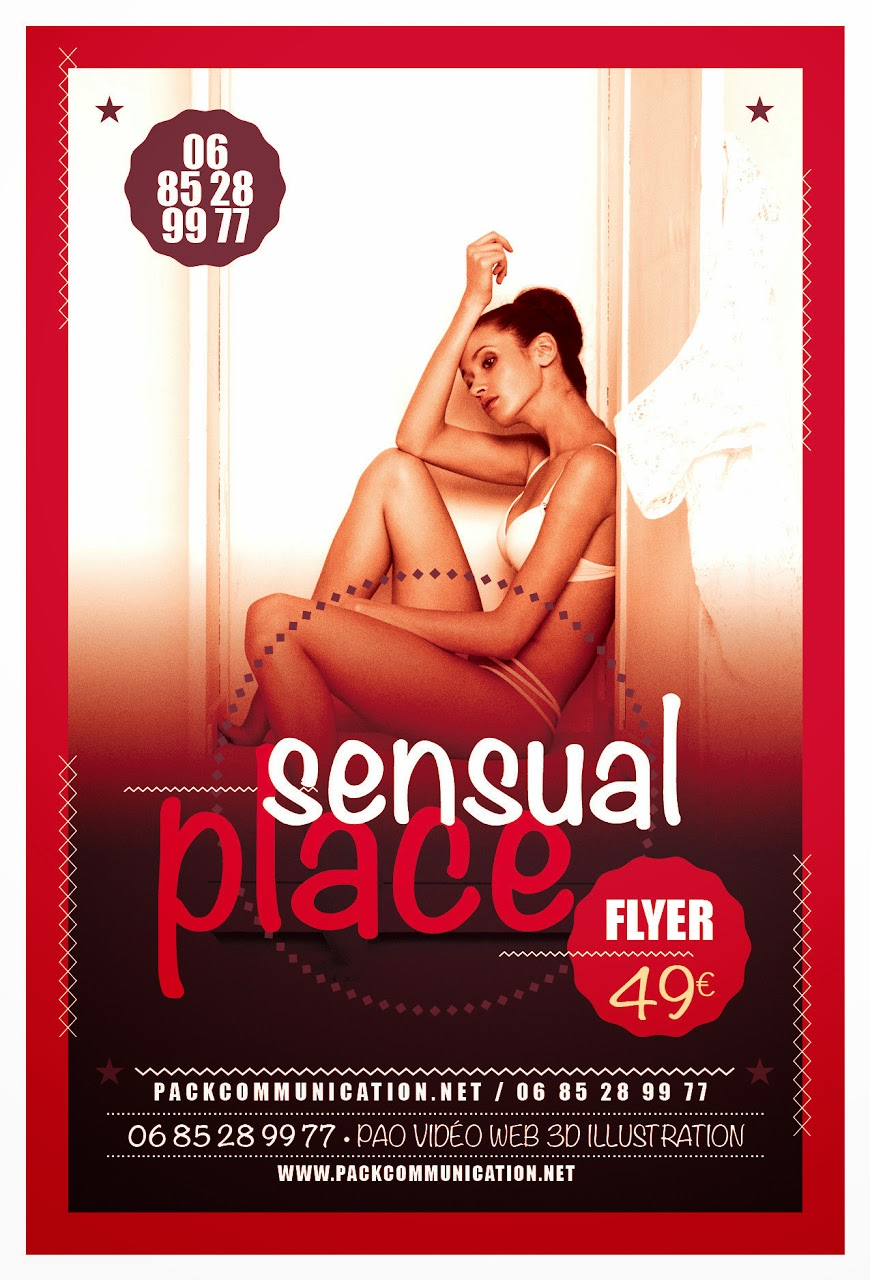 création flyers soirées thème Sensual Place