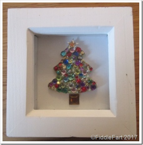 Jewelled Christmas Tree in Box Frame Christmas Decoration