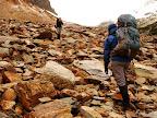 Rocas en el Paso Beban, Sierra Valdivieso Cruce de Tierra del Fuego Trekking Desde Estancia Carmen al Lago Fagnano, y desde la Sierra Valdivieso al Canal Beagle! 7 dias de Trekking intenso.