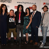 OIC - ENTSIMAGES.COM -  Serena Chloe Gardner, Laurence R Harvey,  Liam Regan, Dani Thompson, David Curtis and Dan Palmer at the Film4 Frightfest on Monday   of  Banjo UK Film Premiere at the Vue West End in London on the 31st  August 2015. Photo Mobis Photos/OIC 0203 174 1069