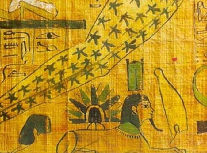 Papiro egípcio antigo mostra desembarque de um OVNI 03