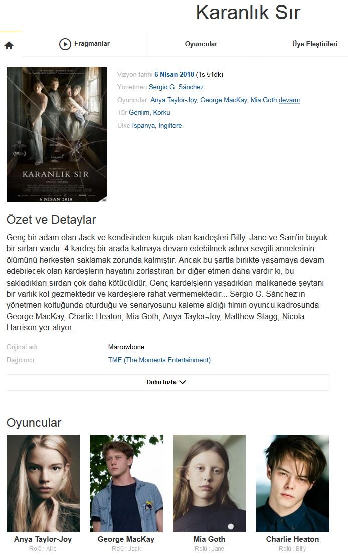 Karanlık Sır 2017 - 1080p 720p 480p - Türkçe Dublaj Tek Link indir