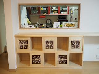 オーダ家具 キッチンカウンター収納棚
