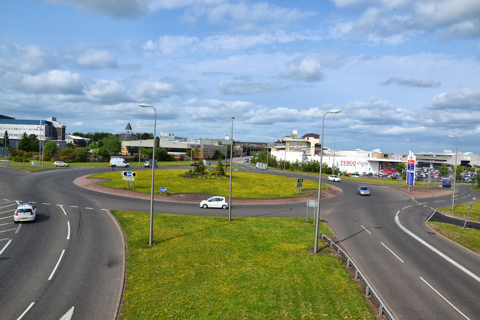 26-06-2013 - By Scott Campbell (+44) 0774 296 870 - Cumbernauld Town Centre; Picture shows Cumbernauld Town Centre, as viewed from A8011 footbridge.