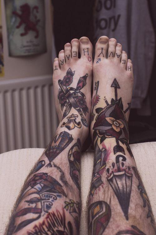 colorido_perna_tatuagem_para_homens
